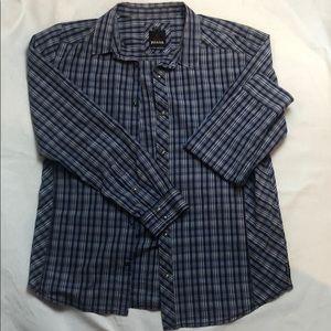 PRANA men's plaid XL slim fit shirt